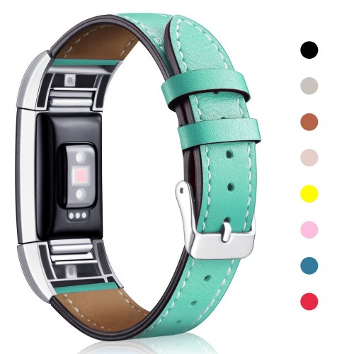 For Fitbit Charge 2 Band Leather Strap, Mornex Classic Adjustable Replacement Wristband for For Fitbit Charge 2 Fitness Accessories With Metal Connectors