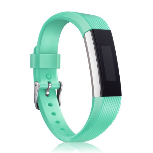 Mornex For Fitbit Alta HR and Alta Strap, Soft Adjustable Replacement Band Accessory with Secure Watch Clasps for For Fitbit Alta and Alta HR, Teal Green